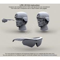 ESS Crossbow goggles Ballistic Eyeshields - ESS Eye Pro (model is made by from transparent resin)