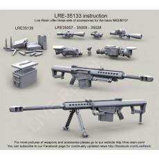 Barrett M82A1 .50 Caliber Long Range Sniper Rifle (LRSR) and M82A1 CQB