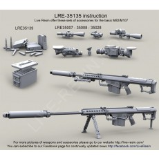 Barrett M107A1 .50 Caliber LRSR and Barrett M107A1 .50 Caliber LRSR CQB with quick-attach Barrett QDL Suppressor