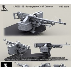 CH47 Chinook Back Ramp Weapon Mount with M240D. For 1/35 Trumpeter 05105 CH-47D CHINOOK model and all other  Chinook CH-47D/F/G / MH-47E conversions, 1/35 scale