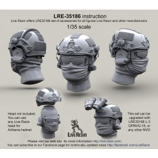 Airframe helmet without helmet cover with headsets rail adaptor