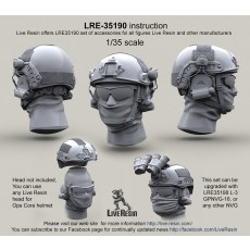 Ops Core helmet with headsets rail adaptor