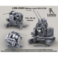 Twin .50 Cal version of military robot Secutor II.  Military robot, designed by Live Resin, more than 100 parts in set
