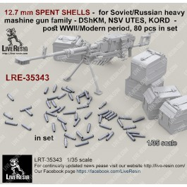12.7 mm SPENT SHELLS -  for Soviet/Russian heavy mashine gun family - DShKM, NSV UTES, KORD  - post WWII/Modern period, 80 pcs in set