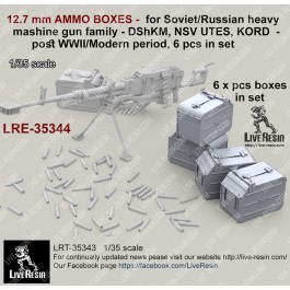 12.7 mm AMMO BOXES -  for Soviet/Russian heavy mashine gun family - DShKM, NSV UTES, KORD  - post WWII/Modern period, 6 pcs in set