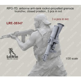 RPG-7D, airborne anti-tank rocket-propelled grenade launcher, closed position, 3 pcs in set