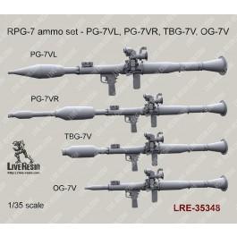 RPG-7 ammo set - PG-7VL, PG-7VR, TBG-7V, OG-7V