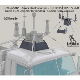 Armor shields for set - LRE35351 RP-377VM1 Radio Fuze Jammer for modern Russian Army vehicles