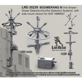 BOOMERANG III Anti-Sniper/Sniper Detection/Gunfire Detection Systems side mount version for SOF HMMWV