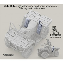 US Military ATV quadrobike upgrade set - Side bags with M4 carbine