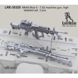 Mk48 Mod 0 - 7,62 machine gun, high detailed set, 3 pcs