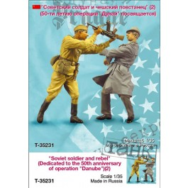 """Soviet soldier and rebel (Dedicated to the 50th anniversary of operation """"Danube"""")(2)"""