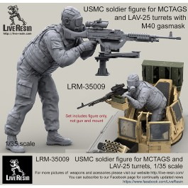 USMC soldier figure for MCTAGS and LAV-25 turrets with realistic M40 gasmask.