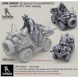 US Special Forces modern ATV rider, staying