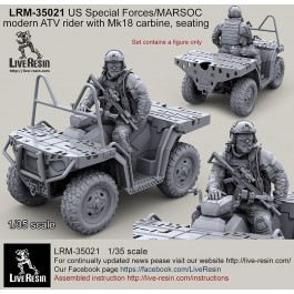 US Special Forces modern ATV rider with Mk18 carbine, seating