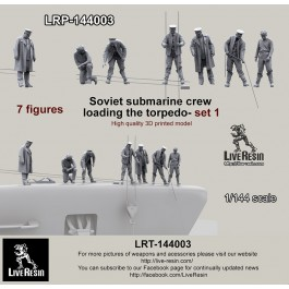 Soviet submarine crew - loading the torpedo - set 1 - 7 figures