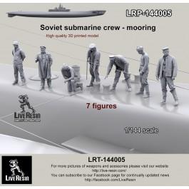 Soviet submarine crew mooring - 7 figures