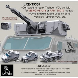 Corrected turret for Typhoon VDV vehicle - for MENG VS-014 or RFM  35019 models. RCWS Module 32В01 used on serial vehicles Typhoon VDV, etc.