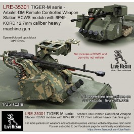 TIGER-M serie - Arbalet-DM Remote Controlled Weapon Station RCWS module with 6P49 KORD 12.7mm caliber heavy machine gun, set includes 2 pcs of KORD high realistic bodies flash hider and muzzle brake versions