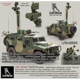 TIGER-M serie - SBRM Recon vehicle set, include - Fara VR radar station, Infra red viewer, laser rangefinder, GPS - GLONASS module, radiocontrol system, military conditioner, SOVA (Owl) acoustics antysniper system