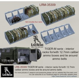 TIGER-M serie - interior racks for/with 12.7mm caliber ammo boxes and lie about ammo belts