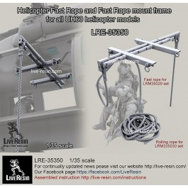 Helicopter Fast Rope and Fast Rope mount frame for all UH60 helicopter models