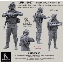 Russian Army APC driver or commander in modern infantry combat gear system set 10. Field uniform version