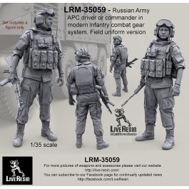 Russian Army APC driver or commander in modern infantry combat gear system set 12. Field uniform version