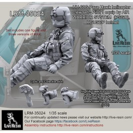 HH-60G Pave Hawk helicopter crew set - Pilot 1 equip by AIR WARRIOR SYSTEM (PSGC), HGU56/P helmet, correct to Kitty Hawk KH50006 HH-60G Pave Hawk and Academy 2201 1/35 MH-60G Pave Hawk, Academy 2217 1/35 MH-60L Black Hawk Direct Action Penetrator (DAP)