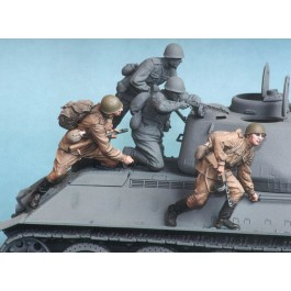 Soviet motor rifle troops №4. Summer 1943-45.  Two figures.