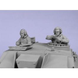 German Stug crew,winter 1942-45. Two figures.