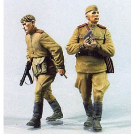 Red Army men.  Summer 1943-45.  Two figures.
