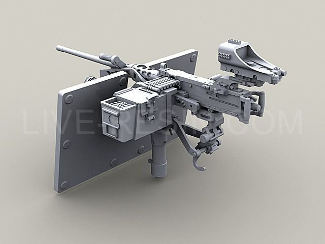 M2 Browning 50 Caliber Machine Gun On Mk93 Machine Gun