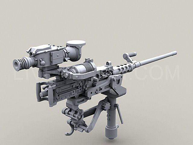 m2 browning  50 caliber machine gun on mk93 machine gun mount with heavy pedestal  bearing