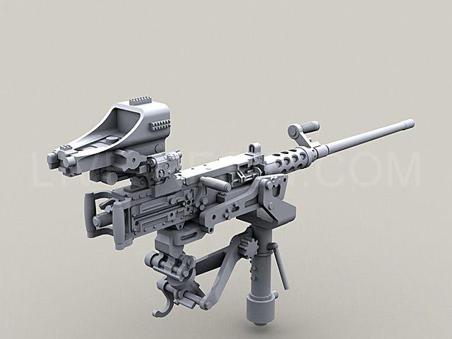 m2 browning 50 caliber machine gun on mk93 machine gun mount with