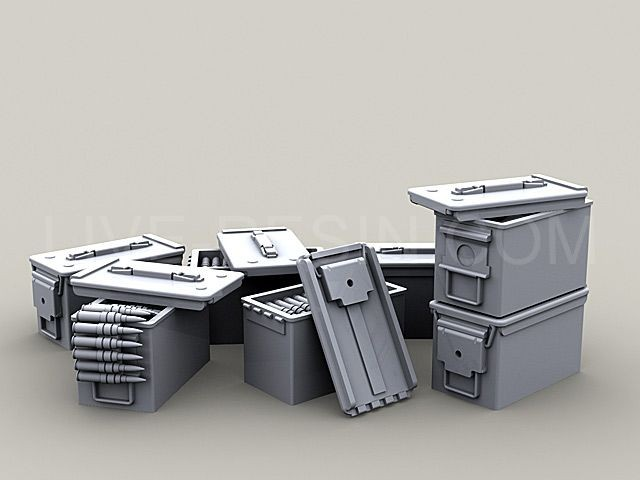 M2 Browning .50 Caliber Machine Gun ammo boxes, ammo belts