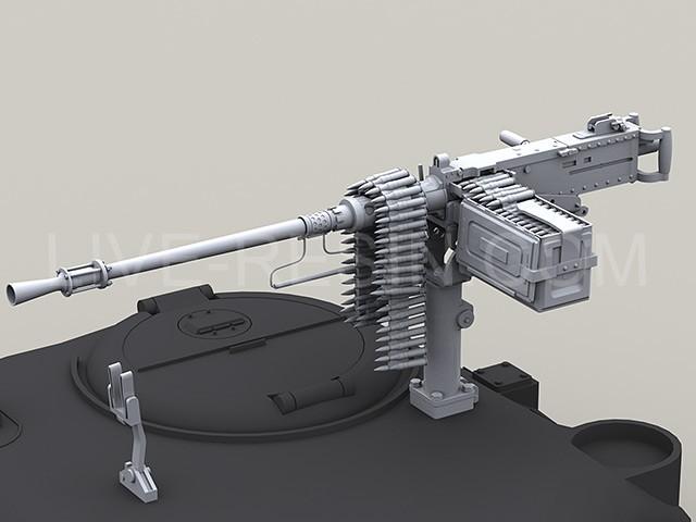 M2HB Browning .50 Caliber Machine Gun with flash hider