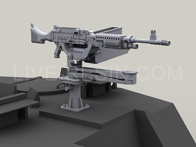 M240G on PLATT Swing mount with U.S. Marine Corps medium