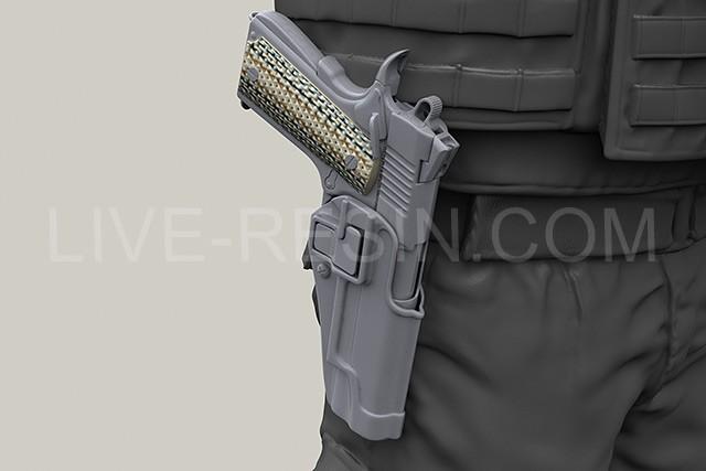Colt M45a1 M1070cqbp Marsoc 45 Pistol In Sherpa Holster