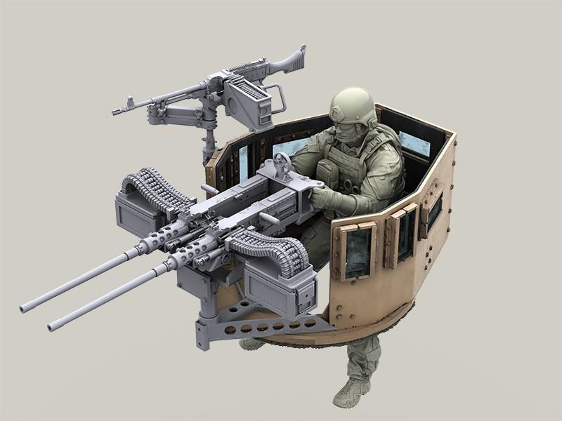 Twin Mount M2 Browning 50 Caliber Machine Gun For Hmmwv