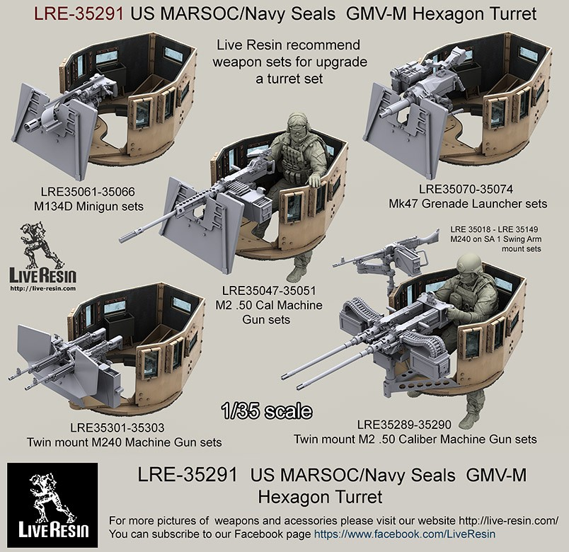 Us Stock Live Quote: US MARSOC/Navy Seals GMV-M Six Grain Turret. Set Includes