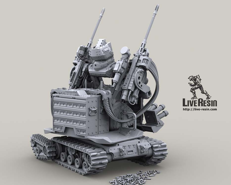 Twin .50 Cal version of military robot Secutor II