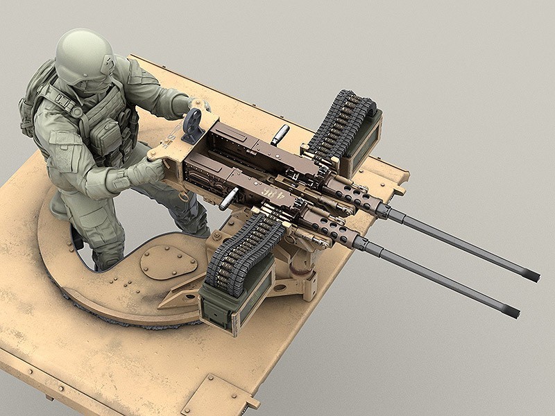 Us Army Special Forces Gunner For 50 Cal M2 And Twin 50