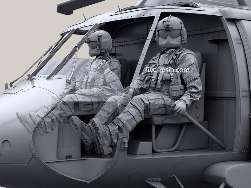 HH-60G Pave Hawk helicopter crew set - Pilot 1 equip by