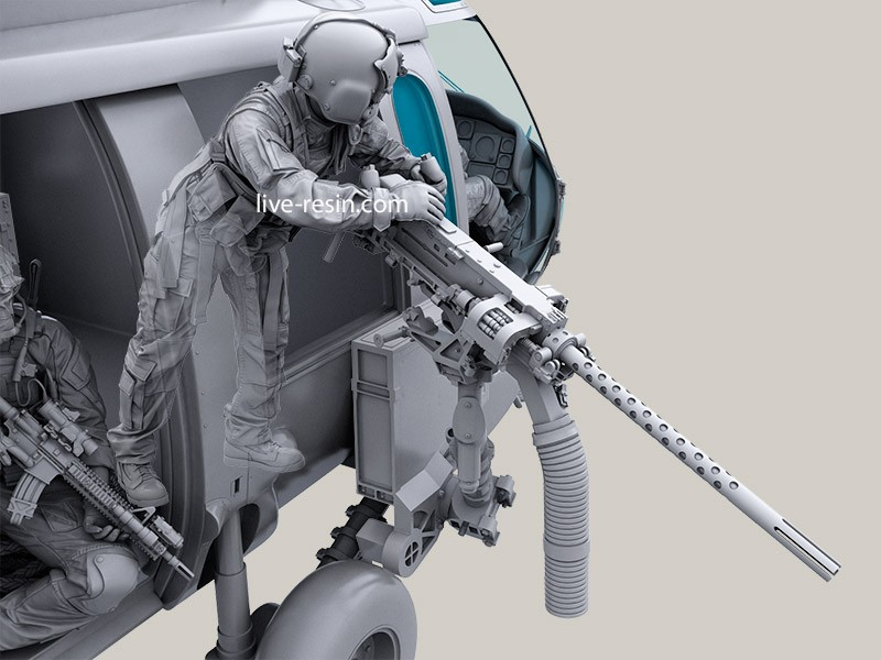 Hh 60g Pave Hawk Helicopter Crew Set Door Gunner Right