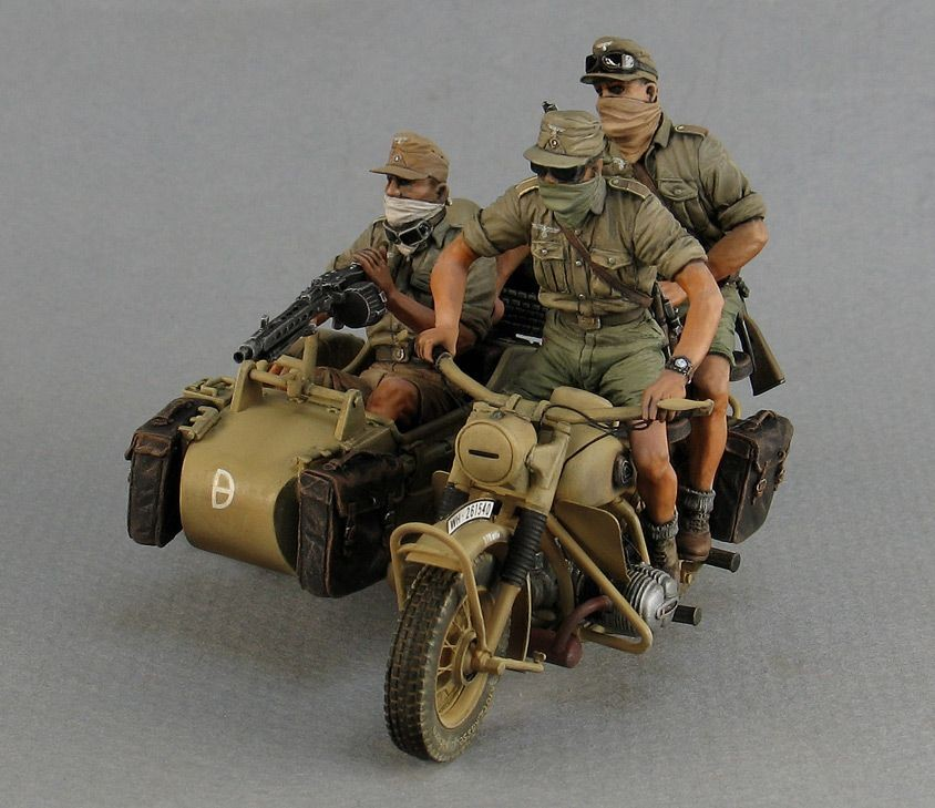 German Motorcycle Rider I Africa Corps