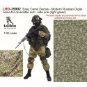 Easy Camo Decals - Modern Russian Digial camo for reversible suit - side one (light green) The best results are achieved with a decal softener and fixing set