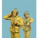 """German tankers (driver, radiooperator) heavy tank ""Tiger I"" (Tunisia 1943) (2)"