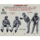 COMBINED SET - HH-60G Pave Hawk helicopter crew set - Pilot 1 - Pilot 2 - Door Gunner left side 3 - Door Gunner right side side  Four figures in set - DISCOUNT 10%