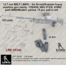 12.7 mm BELT LINKS -  for Soviet/Russian heavy mashine gun family - DShKM, NSV UTES, KORD  - post WWII/Modern period, 80 pcs in set